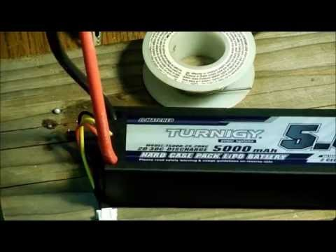 How to install a traxxas connector on Turnigy Lipo from hobbyking