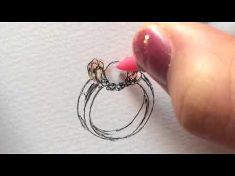 Jewelry design drawing