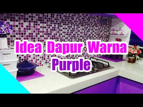 Idea Dapur Warna Purple