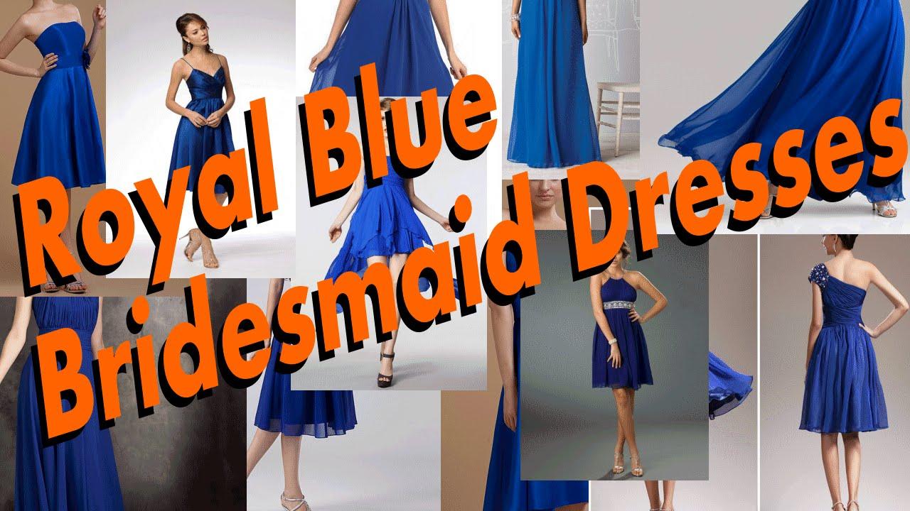 The Luxurious Royal Blue Bridesmaid Dresses