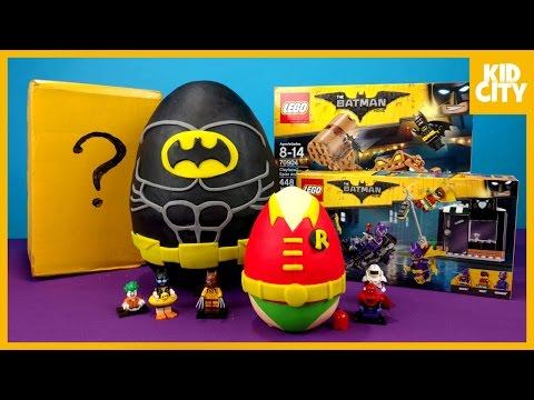 LEGO Batman Movie Play-Doh Surprise Egg with LEGO Batman Toys   KIDCITY
