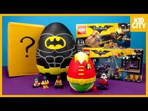 LEGO Batman Movie Play-Doh Surprise Egg with LEGO Batman Toys | KIDCITY