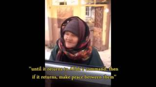 MUST WATCH : Wise old lady stands up against ISIS !