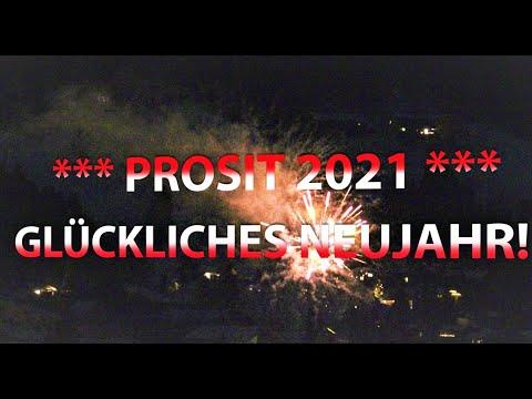 Prosit Neujahr 2021 - Neujahrsgrüße Mit Feuerwerk