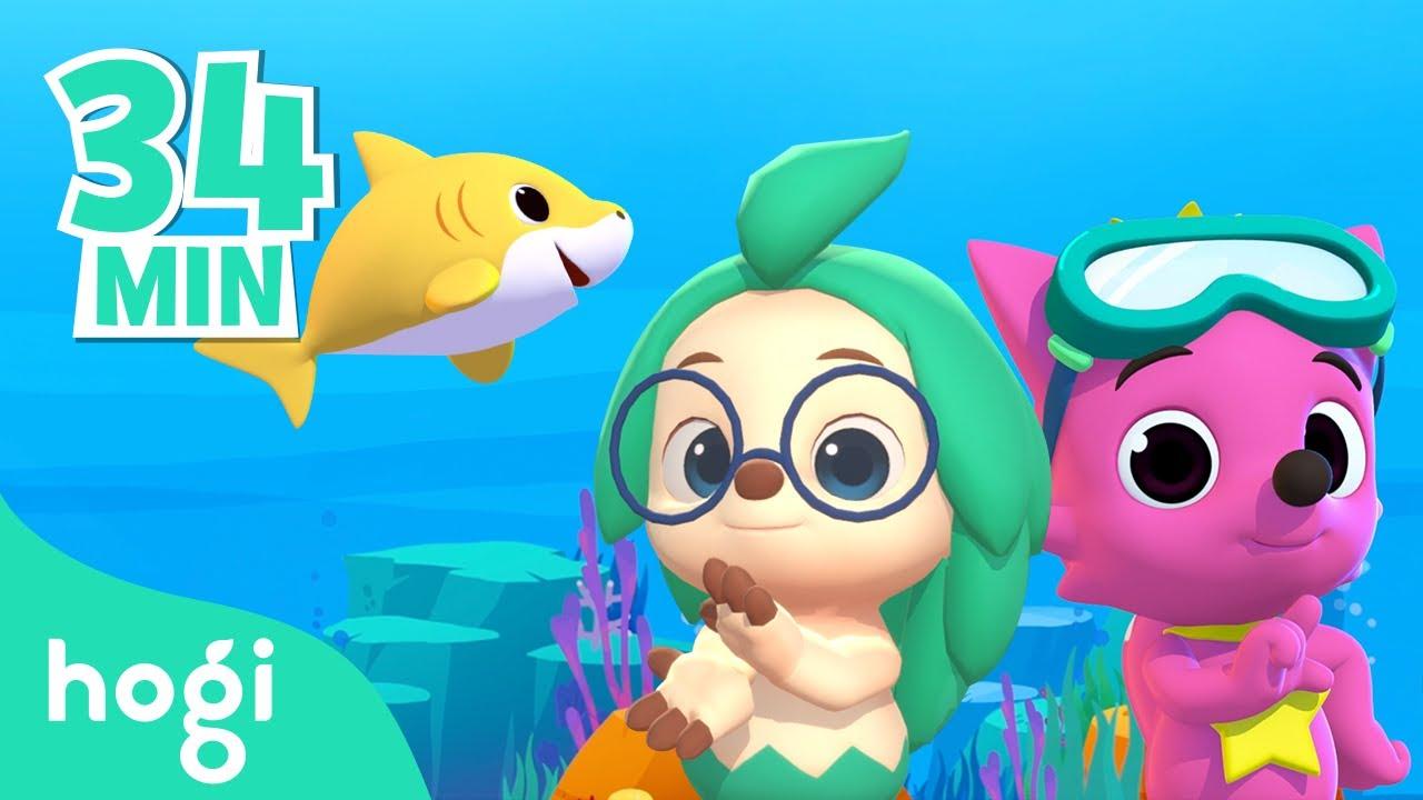 💙Hogi joins 🦈 Baby Shark Dance! | Happy Shark Month | Rhymes & Colors | Pinkfong & Hogi