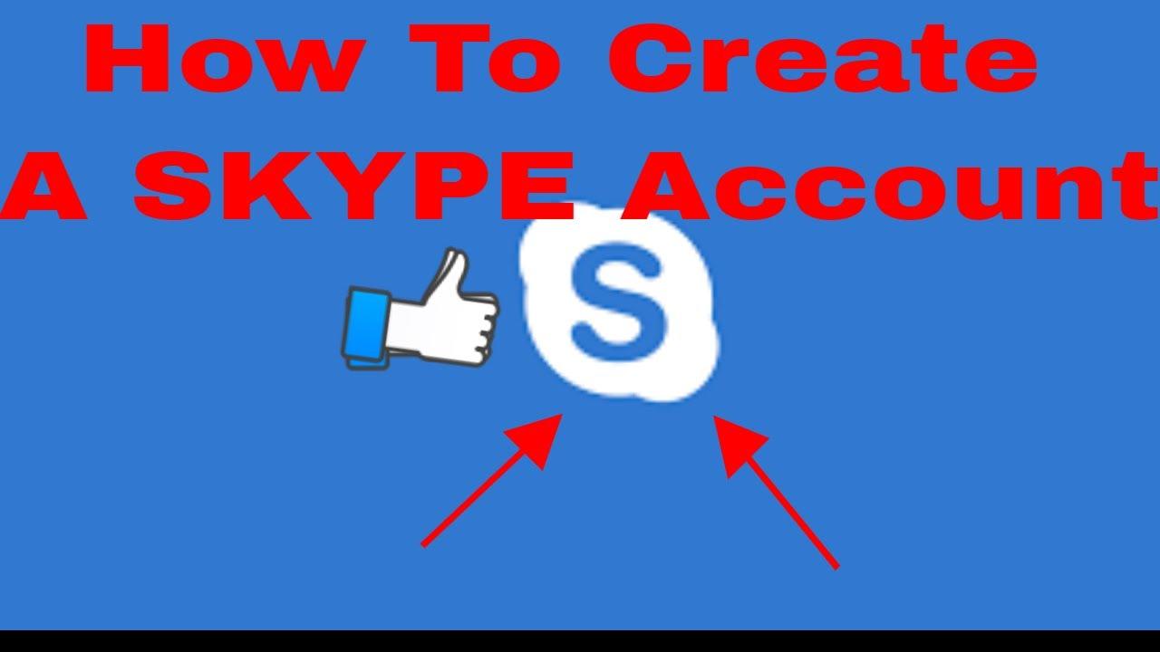 skype create account