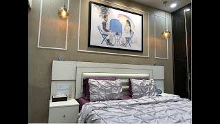 Elegant bedroom designed by Lakkadworks