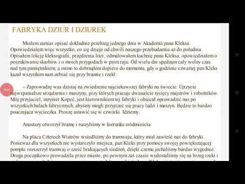Akademia Pana Kleksa Rozdział 7 Fabryka Dziur I Dziurek