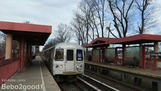 NYC Staten Island Railway: Two Trains at Eltingville Station (MUE-2)