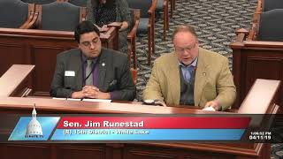 Sen. Runestad testifies on bill addressing skyrocketing suicide rates