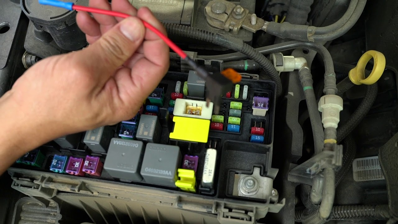 How To Wire DRL and Halos To ACC In Fuse Box for Jeep Wrangler JK  YouTube