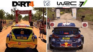 WRC 7 vs DiRT 4 - Gameplay Comparison HD