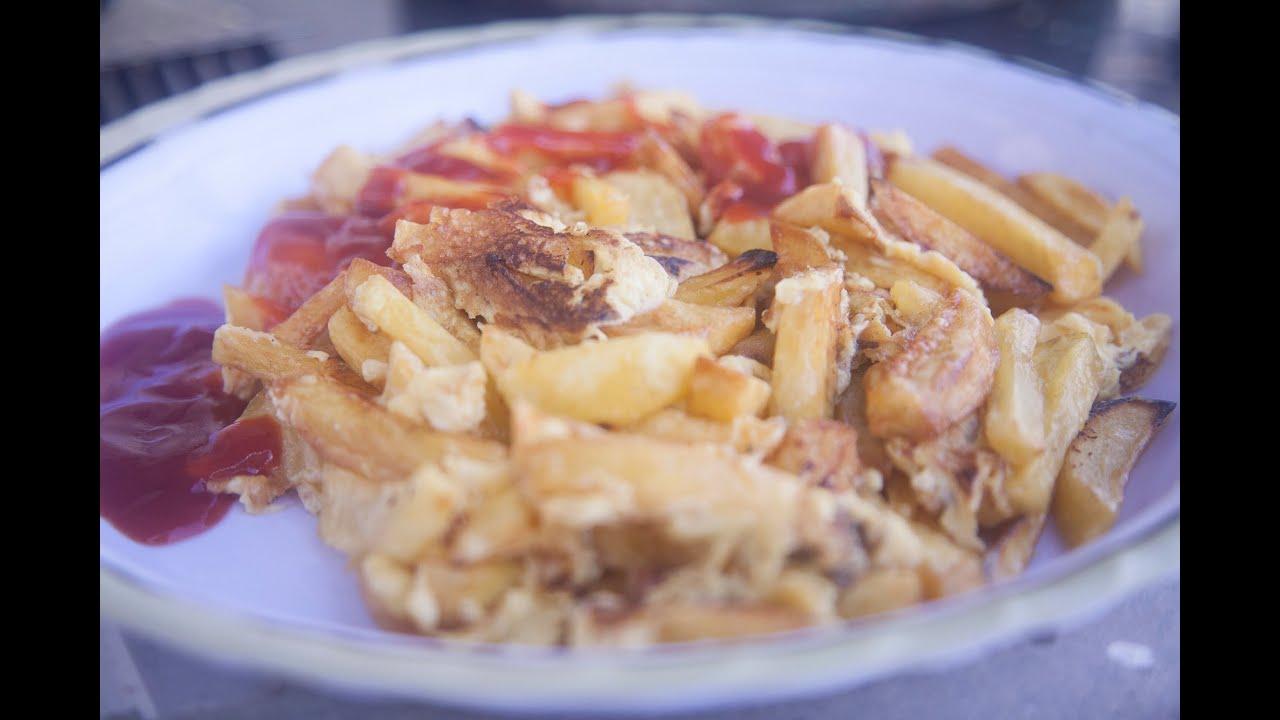 Somali Style Chips Mayai Recipe | How To Make Chips Mayai | Most Famous Tanzanian steet food