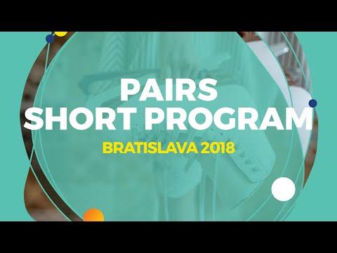 Mishina Anastasia / Galiamov Aleksandr (RUS)   Pairs Short Program   Bratislava 2018