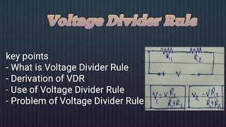 All about Voltage Divider rule(VDR)// Basic of Voltage Division rule