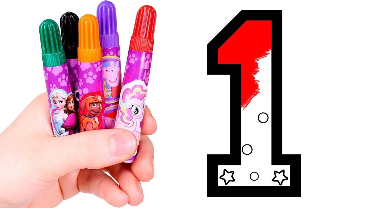 Dibuja y Colorea el Número 1 1️⃣🎨 Aprende los números ...
