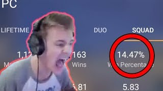 NINJA'S WIN PERCENTAGE REVELEAD 😂😂 // HOW TO CHECK STATS OF YOUR FAVOURITE FORTNITE PLAYERS ?