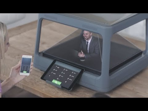 Converts any digital content from tablet or smartphone into a 3D holographic experience