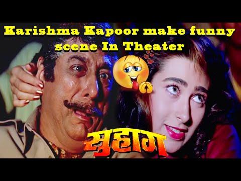 Karishma Kapoor make funny scene In Theater || Hindi action Movie Suhaag