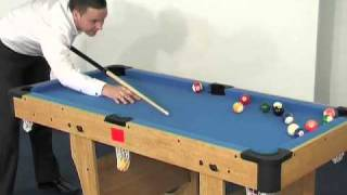 "Www.madfun.co.uk - 4ft6"" 6ft Clifton Folding Pool Table Bce Pt20-46d Pt20-6d"