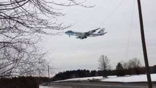 Air Force One Landing At Bradley International Airport ( GREA