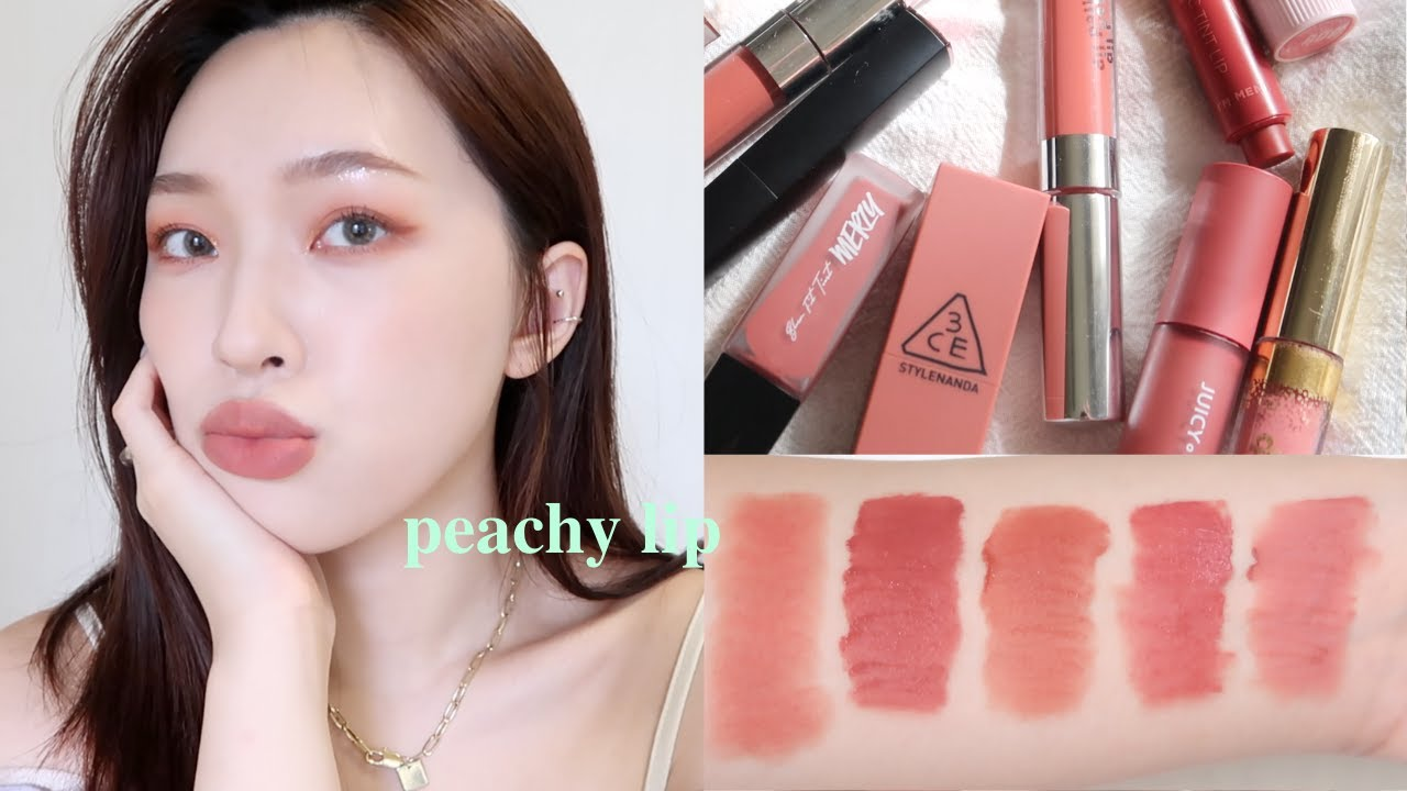 𝐅𝐫𝐞𝐬𝐡 𝐏𝐢𝐜𝐤! 夏日蜜桃色唇彩Top 10🍑Summer Peachy Lip | heyitsmindy