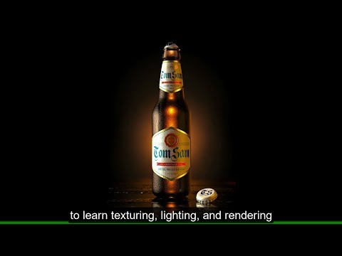 New Cinema 4D Training - Create A Photorealistic 3D Beer Bottle (English)