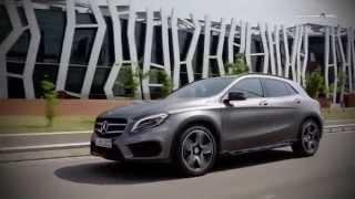 Mercedes Benz GLA 250 4MATIC. Тест драйв нового поколения автомобилей Video