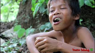 Primitive Technology - Eating delicious - Awesome cooking fish egg