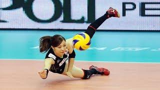 Crazy volleyball libero arisa sato (hd)
