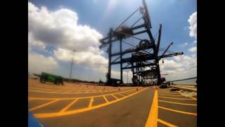 Trapac Container Crane Raises and Realignment