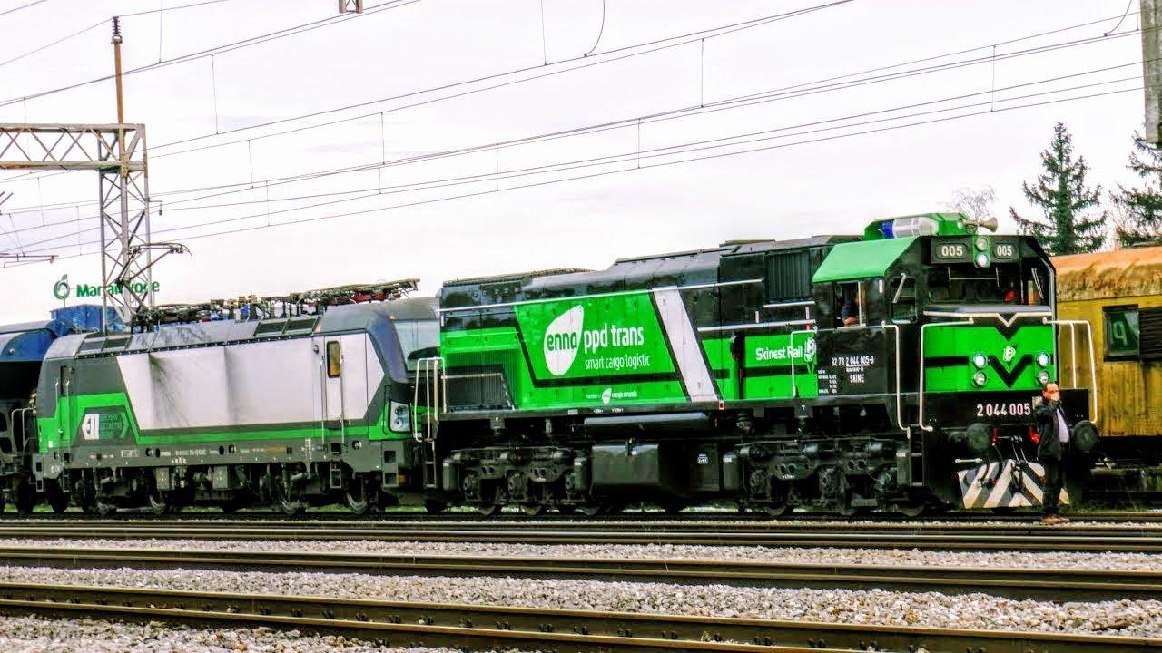 New Diesel Loco On Freight Train In Croatia Lokomotiva Ppd Trans 2044 005 Na Teretnom Vlaku Youtube