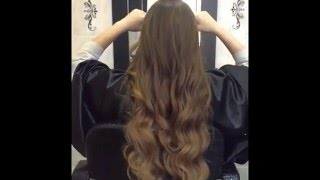 Наращивание отборных славянских волос от oblakahair.ru