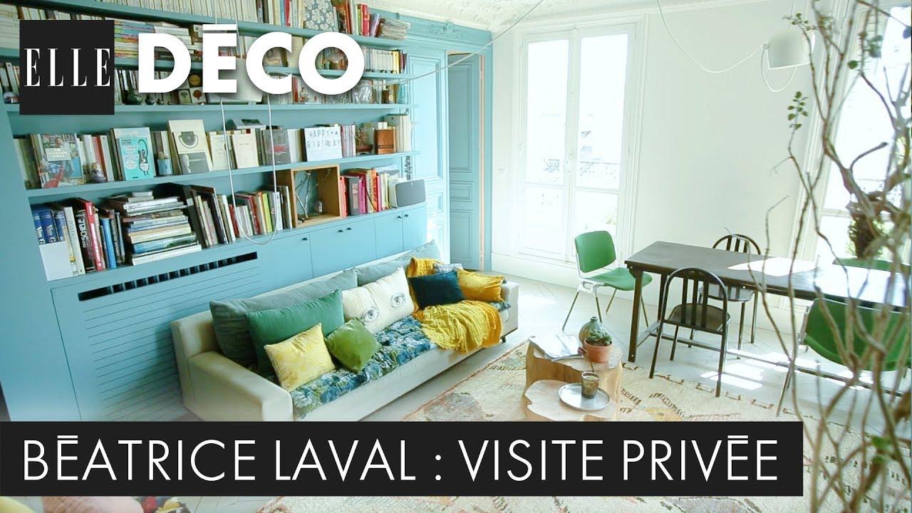 Decoration Interieur Appartement Vintage #elledécoinside : découvrez l'appartement haussmannien coloré de béatrice  laval