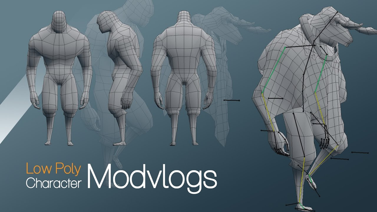 low poly character speed modeling blender 2 78 [modvlogs]