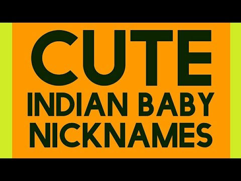 Baby boy nick names in hindi