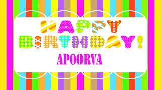 Apoorva Wishes & Mensajes - Happy Birthday