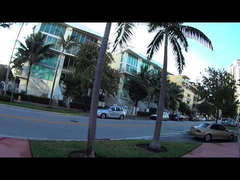 Vida em Miami BAIRRO da PRAIA Florida Estados Unidos EUA
