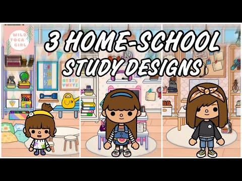 3 HOME-SCHOOL STUDY DESIGNS 📚 TOCA BOCA 🌎