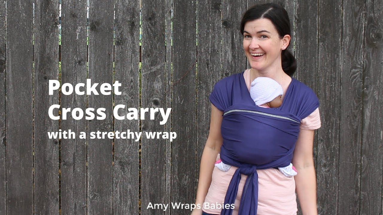 32c046448c1 What else can a stretchy wrap do  Pocket Cross Carry in Ergobaby Aura Wrap.  Amy Wraps Babies