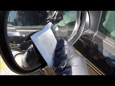 cheapasshack how to replace side rear view mirror glass unheated 97 03 ford f 150 youtube. Black Bedroom Furniture Sets. Home Design Ideas