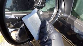 CheapAssHack - How to Replace Side Rear View Mirror Glass Unheated 97-03 Ford F-150