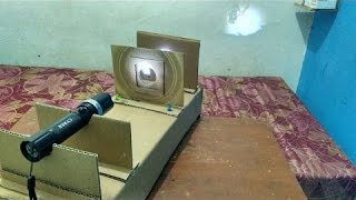How to Make a Projector using flashlight  | mesin proyektor boboiboy