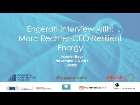 Marc Rechter, CEO, Resilient Energy