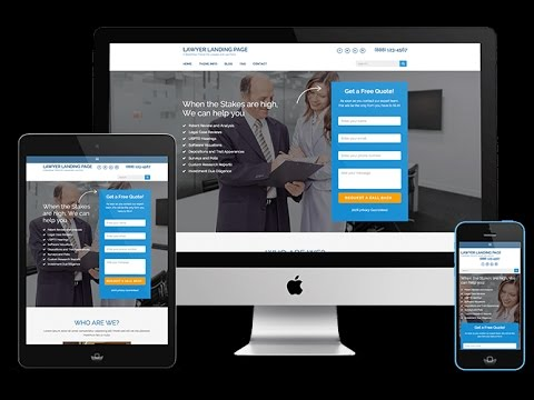 How To Create Law Firm Website or Landing Page Using Free WordPress From Scratch 2017