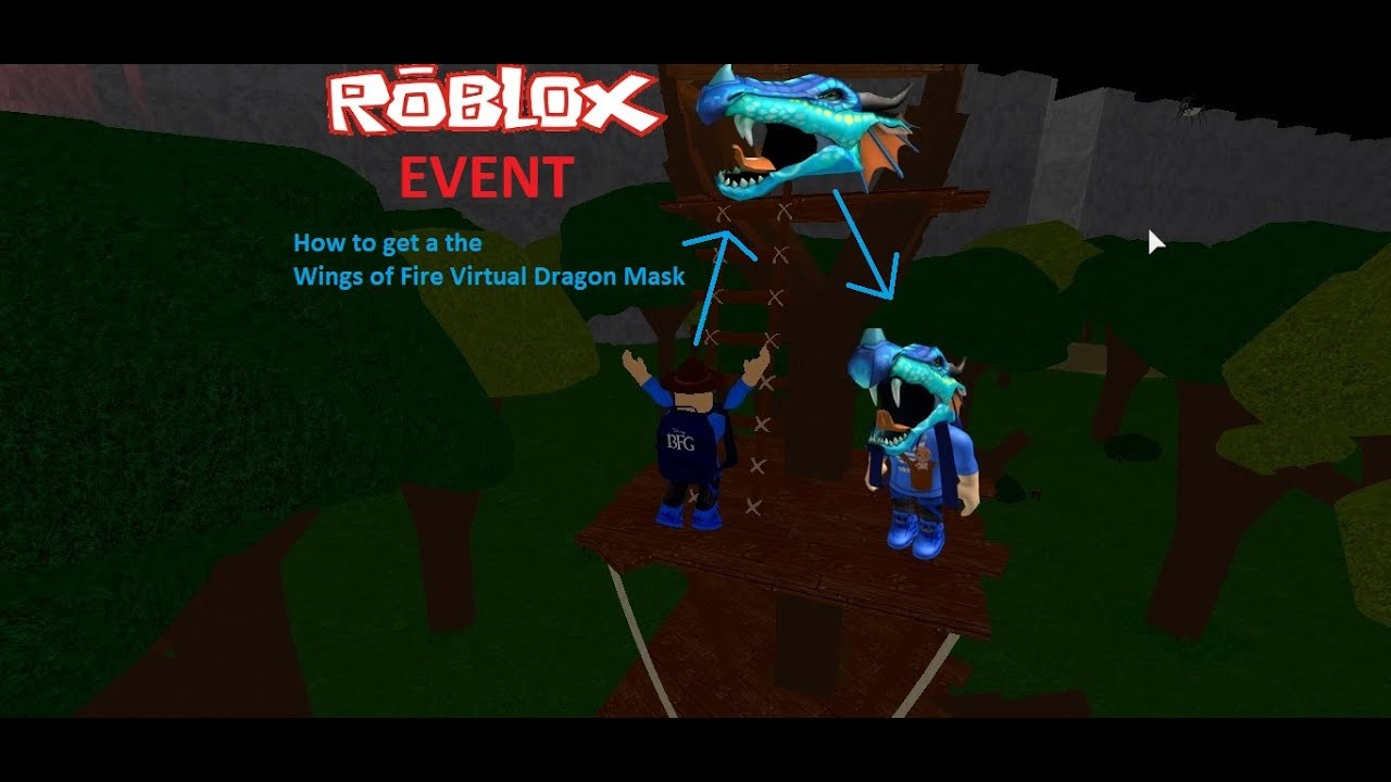 Roblox Event How To Get The Wings Of Fire Virtual Dragon Mask