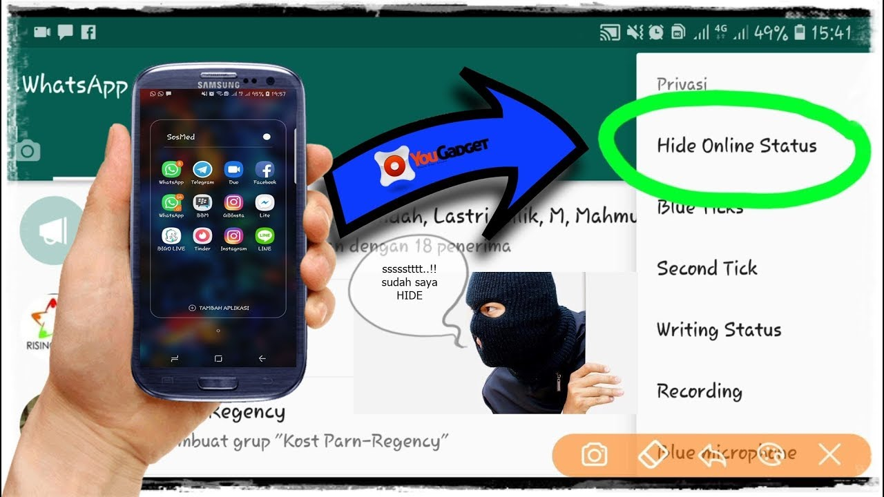 How to Hide ONLINE Status Whatsapp on ANDROID - YouTube