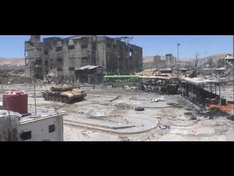 شاهد.. لحظات هروب عناصر النظام أمام تقدم الثوار في دمشق وجثث المليشيات الشيعية تملأ أرياف حماة