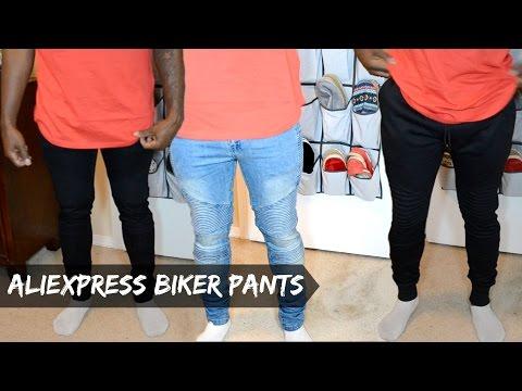 Men's AliExpress Haul - (Biker Jeans & Biker Joggers) - dyrandoms