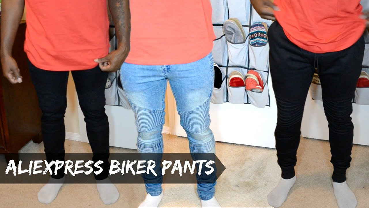 Men's AliExpress Haul - (Biker Jeans & Biker Joggers) - dyrandoms ...